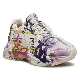 Sportcipő BRONX - 66340-A Off White/Yellow/Fuchsia/Nappa/Graffiti 2362