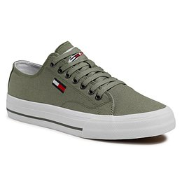 Teniszcipő TOMMY JEANS - Long Lace Up EM0EM00659 Clean Green L9K