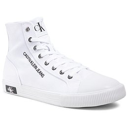 Tornacipő CALVIN KLEIN JEANS - Vulcanized Sneaker Highlaceup Co YM0YM00019 Bright White YAF