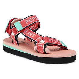 Szandál PEPE JEANS - Pool Tape Girls PGS90162  Bright Coral 342