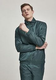 Urban Classics Jacquard Track Jacket bottlegreen