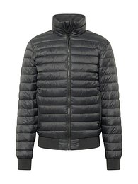 Superdry Átmeneti dzseki 'Leather Indie Club Jacket'  fekete