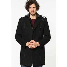 PLT8334 DEWBERRY MEN's COAT-BLACK