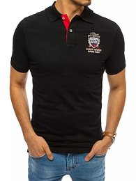 Men's polo shirt with Dstreet embroidery, black PX0411