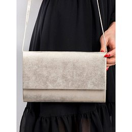 Gold eco leather clutch bag
