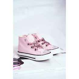 Children's Sneakers High Pink Smile