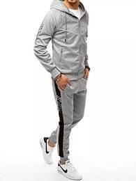 Gray men's tracksuit with the Dstreet AXX0360 print