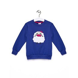 Navy blue sweatshirt for a girl with a sheep