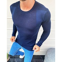 Navy blue men's sweater slipped over the head WX1586