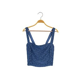 Trendyol Blue Strappy Blouse