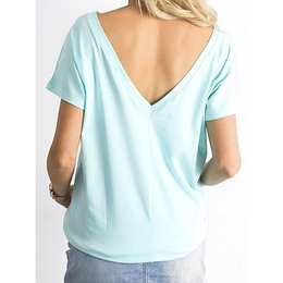 T-shirt with a neckline at the back mint