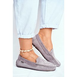 Women's Loafers Suede Grey Morreno