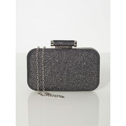 Black brocade formal bag
