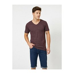 Koton Man Claret Red T-Shirt