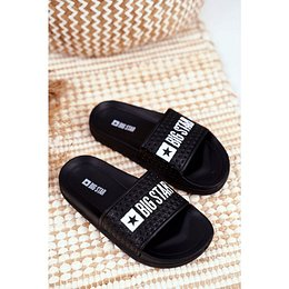 Slides Children's Big Star Quilted Black GG374800