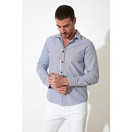 Trendyol Indigo Men Slim Fit Shirt Collar Shirt