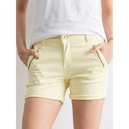 Light yellow denim shorts
