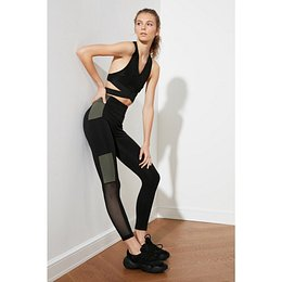 Trendyol MulticolorEd Color Block Sports Tights