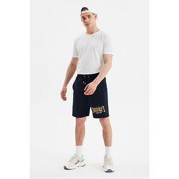 Trendyol Navy Blue Men Regular Fit Printed Shorts & Bermuda