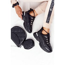 Women's Sneakers On A Chunky Sole Grey Good Mood
