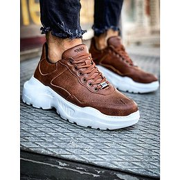 Brown men's sneakers ZX0134