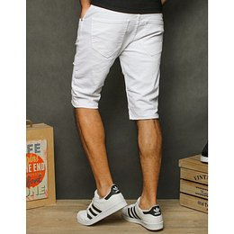 Men's white denim shorts SX1208