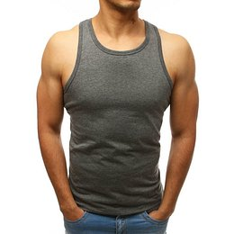 Men's tank top without print anthracite RX3493