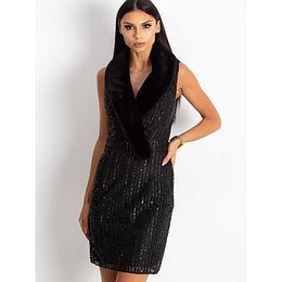 Cocktail dress with sequins black