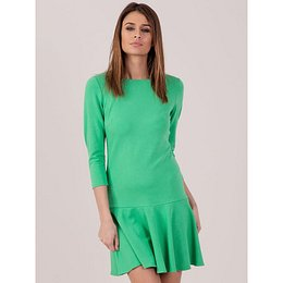Green frill cocktail dress