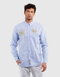 Ing La Martina Man L/S Shirt Oxford Easy Care