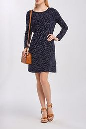 RUHA GANT D1. FRENCH DOT PRINT DRESS