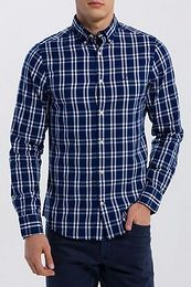 ING GANT O1. WINDBLOWN OXFORD PLAID REG BD